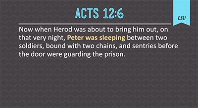 Peter Trusted God
